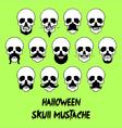 Halloween Skull Mustache vector image