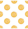 seamless pattern bitcoin coin technology digital vector image