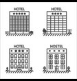 hotels and hostel line icon set vector image