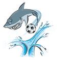 shark sport mascot vector image