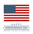 4 th july usa flag independence america vector image