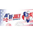 4th july independence day balloons flag banner vector image