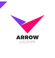 abstract arrow icon logo design template vector image vector image