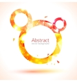 Abstract composition of orange and yellow shiny vector image vector image