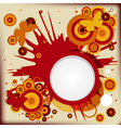 Abstract grunge background with explosion circles vector image vector image