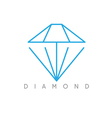abstract icon design template of dimond vector image