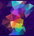 abstract polygon square background purple rainbow vector image vector image