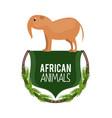 african animals cartoon vector image vector image
