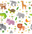 African animals seamless pattern Cute cartoon vector image vector image