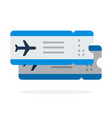 airline tickets flights flat material design vector image vector image
