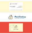 beautiful diamond ring logo and business card vector image