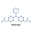 bisacodyl laxative drug vector image vector image