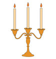 Candle stick on white background