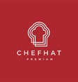 chef hat logo icon vector image vector image