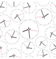 clock seamless pattern background business flat vector image vector image