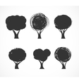 Collection of tree icons vector image vector image