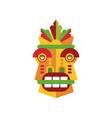 colorful aborigine facial mask vector image