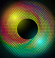 colorful disco lights frame vector image vector image