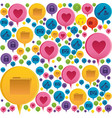 colorful pattern formed by dialogue social icons vector image vector image