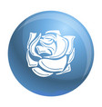 decorative rose icon simple style vector image vector image
