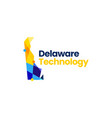 delaware technology connection geometric vector image vector image