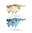 Eurasia map template triangle design vector image vector image