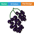 Flat design icon of Black currant vector image vector image