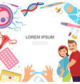 flat pregnancy colorful template vector image vector image