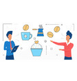 food cooking people with cupcake dessert vector image vector image