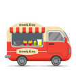 french fries food caravan trailer vector image vector image