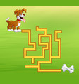 game dog maze find way to the bones vector image vector image