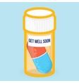 Get well soon healthy card vector image vector image