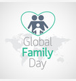 global family day icon vector image vector image