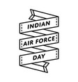 indian air force day greeting emblem vector image