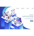 isometric banner future medical technology in 3d vector image vector image