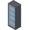 isometric fridge vector image