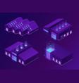isometric storehouse logistics warehouse buildings vector image