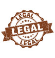 legal stamp sign seal vector image vector image