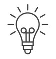 light idea bulb icon outline style vector image
