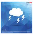 lightening cloud icon vector image