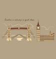 london line sepia composition vector image