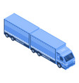 long delivery truck icon isometric style vector image