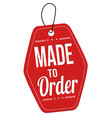 made to order red leather price tag vector image vector image