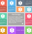 Medicine icon sign Set of multicolored buttons vector image vector image