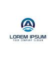 modern letter a technology logo design concept vector image vector image