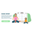 mother and daughter involved sport engaged in yoga vector image vector image