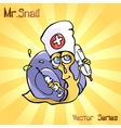 Mr Snail with medicine vector image