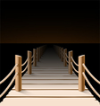 Night pier vector image