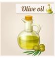 Olive oil in bottle vector image