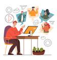 online business conference design element concept vector image